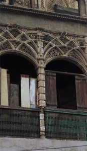 Beautiful arches in a dilapidated building