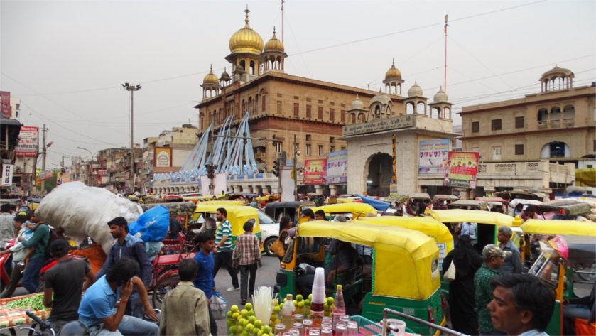 Sisganj gurudwara is a major landmark