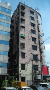 Decaying high rise in Yangon
