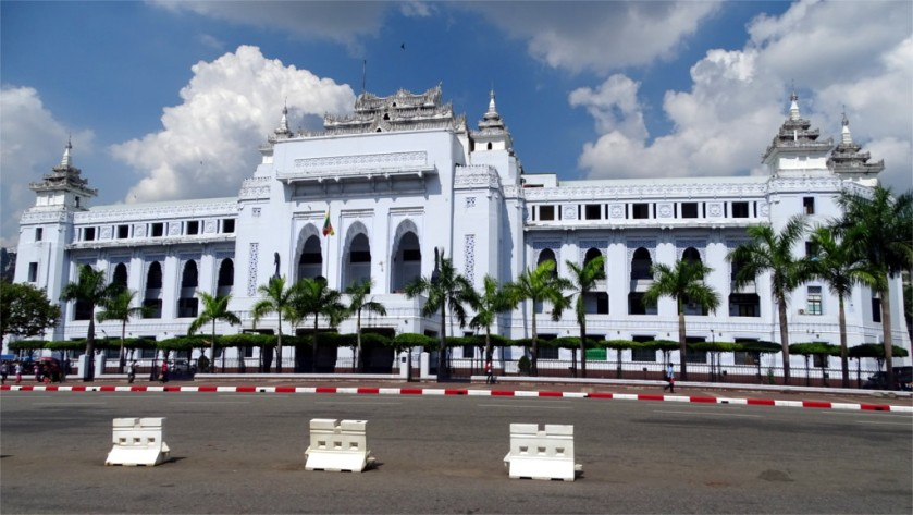 The town hall of Yangon
