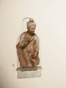 Standing Buddha from Gandhara ca 2nd century CE, National Museum, delhi