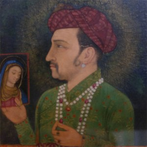 Emperor Jehangir with a picture of the Madonna, National Museum, Delhi