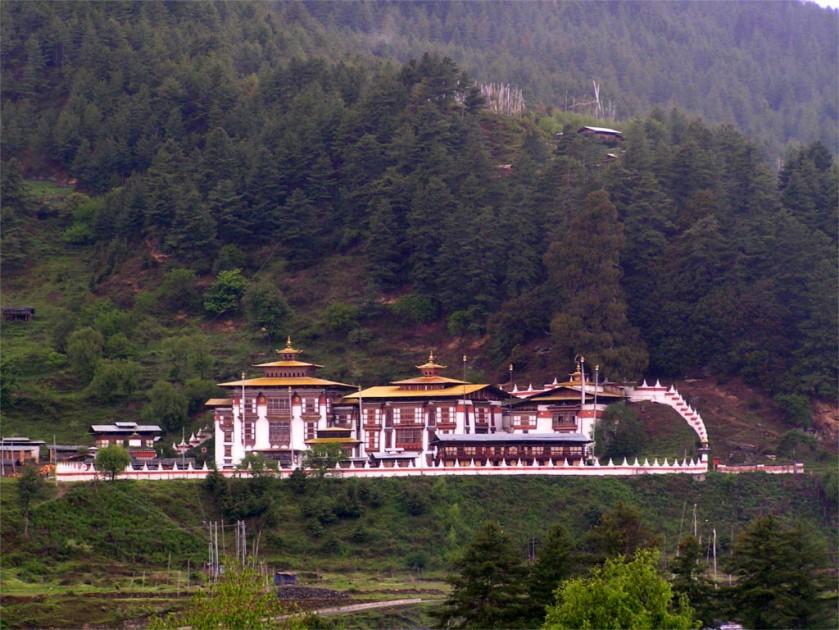 View of Kurje Lhakhang, Tang, Bhutan