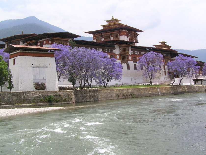 View of Punakha Dzong, Bhutan
