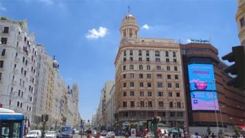 Madrid: GranVia at the Plaza Callao
