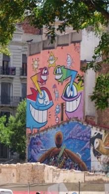 Barcelona: near Parc Miro