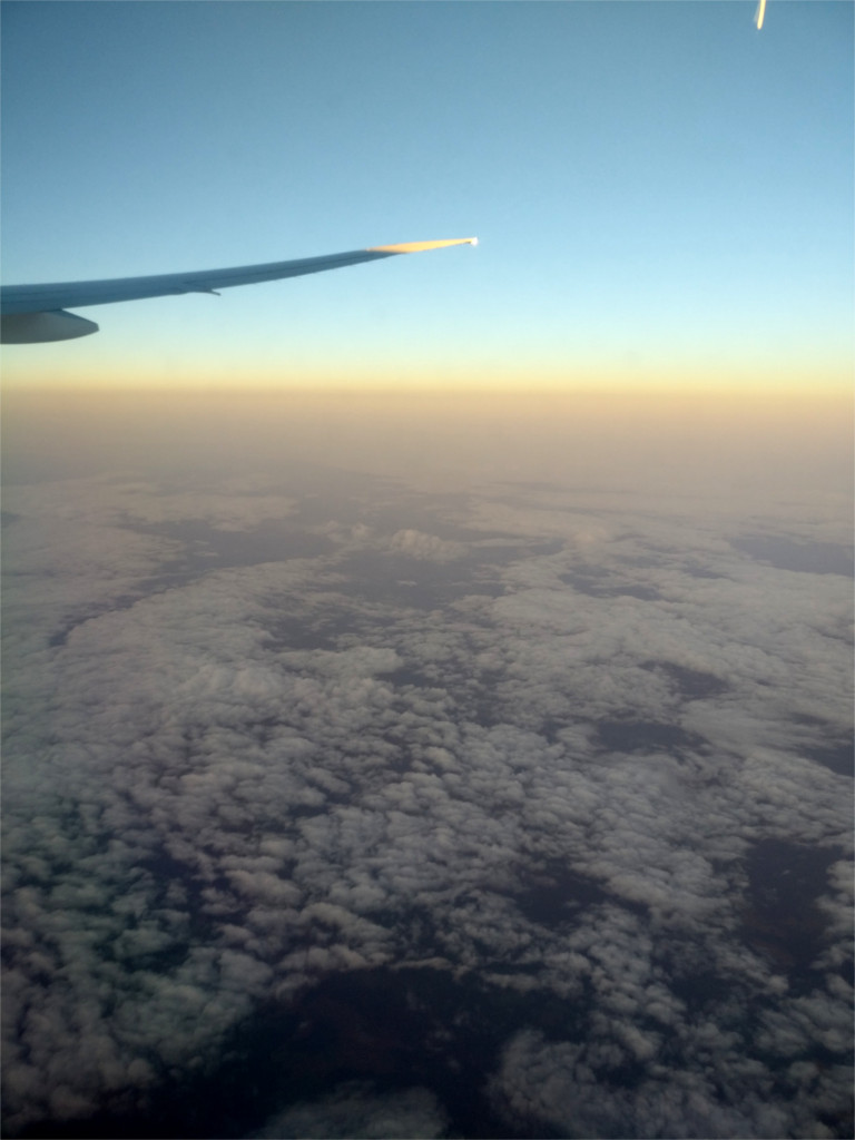 In flight over extreme north Europe