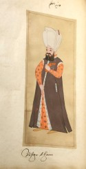"""""""Sadrazam (The Grand Vazir)"""" in the album """"Habits of the Grand Signor's Court"""" (Ink and watercolour on paper, circa 1620, Turkey)"""
