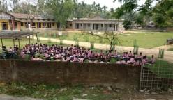 Drawing competition at a Kaziranga school